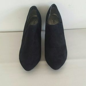 Cato black suede ankle boots sz 11W